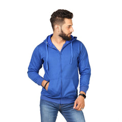 Blue Color Hoodie  For Men