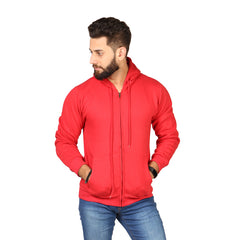 Red Color Hoodie  For Men