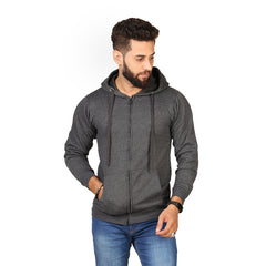 Grey Color Hoodie  For Men