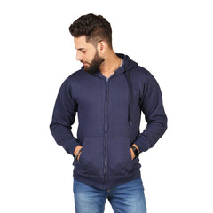 Navy Blue Color Hoodie  For Men