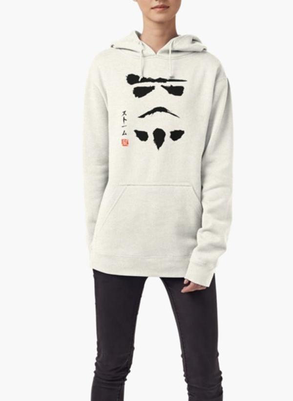 Star Wars Droid Minimalistic WOMEN HOODIE GRAY