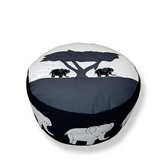 Elephant Foot Stool Bean Bag - Black
