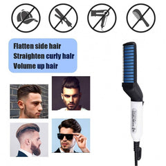 Beard Straightener Hair Comb, Man Electric Hair Styling Comb DIY Hair Accessories Hair Modelling Tool