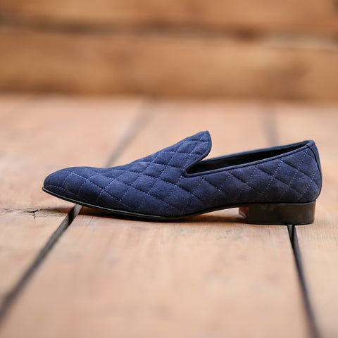 Mentorii Shoes Loafer With Suede Leather JD 054 Blue