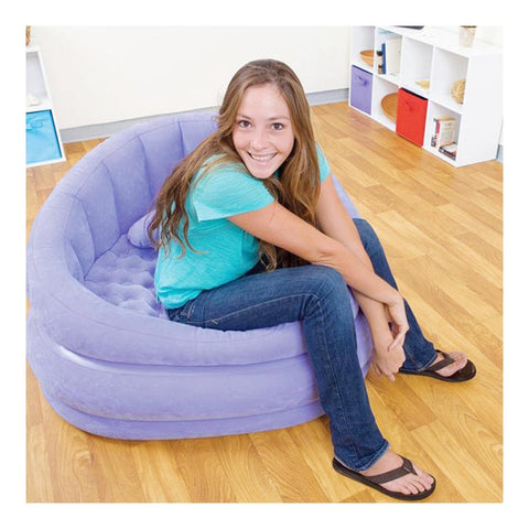 Lounge 'n' Cafe Sofa Chair with Free Air Pump - Purple