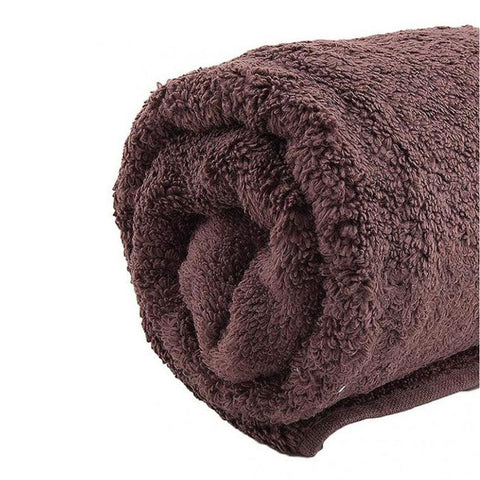 Style Dark Brown Cotton Bath Towel