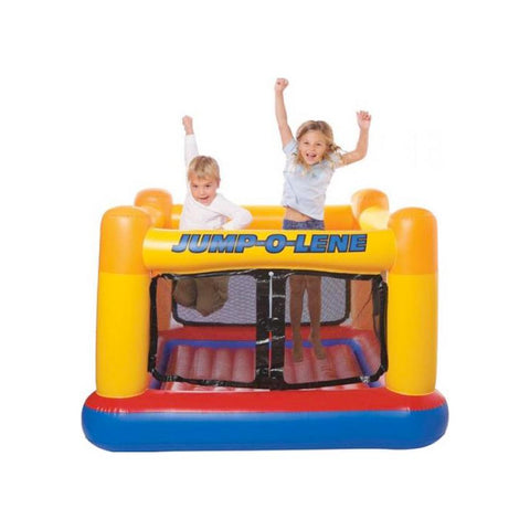 Playhouse Jump-O-Lene Inflatable Bouncer Jumping Castle with Free Air Pump