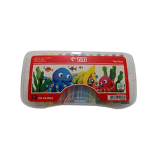TiTi Oil Pastels - 12-color plastic-case Oil Pastels