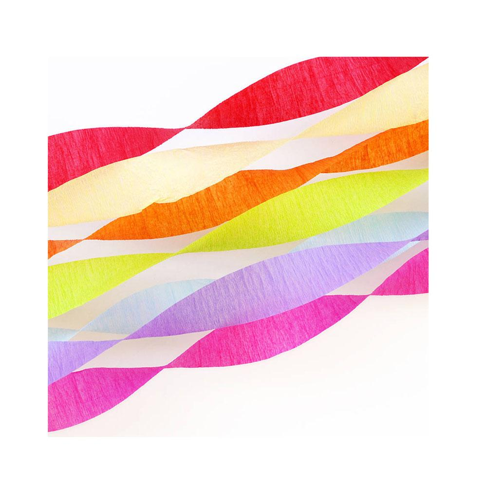 Pack of 6-Crepe Streamer-Multicolour 1.75x970 inches