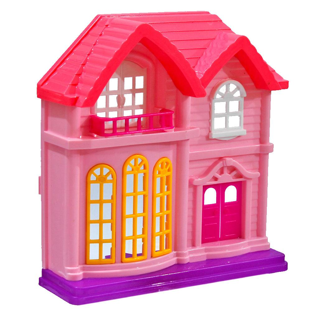 Solo Doll House with Accessories - Play House - Pink