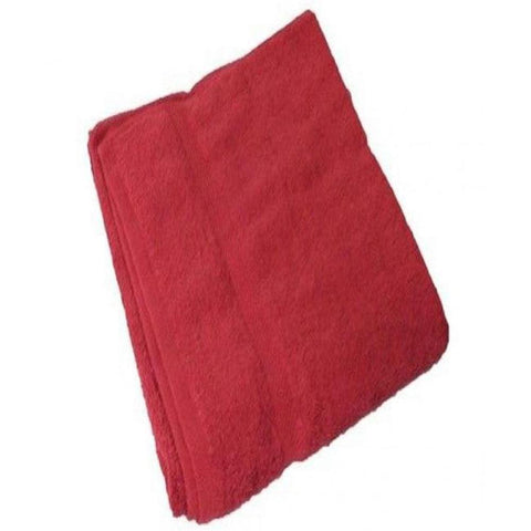 Cotton Bath Towels - Red