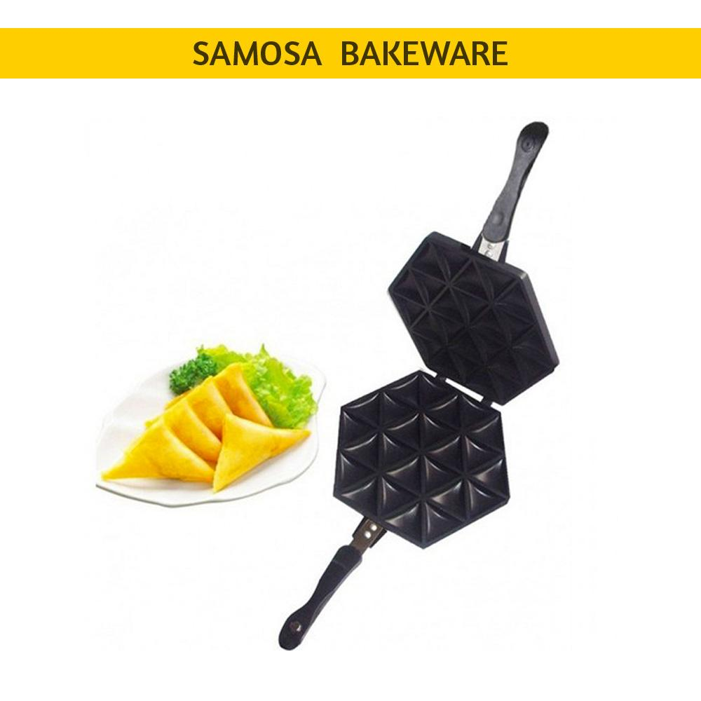 Non Stick Double Sided Samosa Bakeware - Black