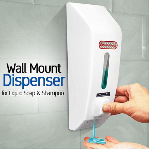 500ML Large Liquid Soap and Sanitizer Dispenser for Homes, Hospitals & Offices - White