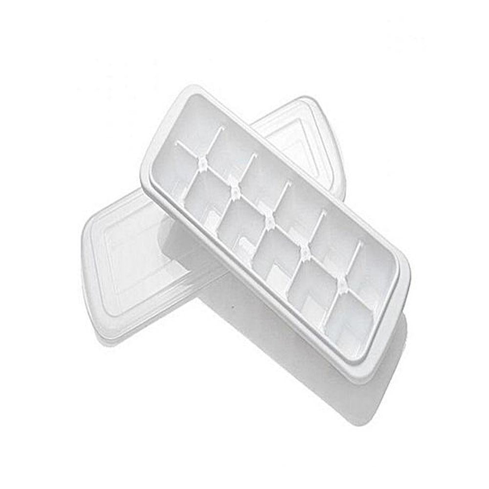 Pack of 2-Ice Cube Trays-White