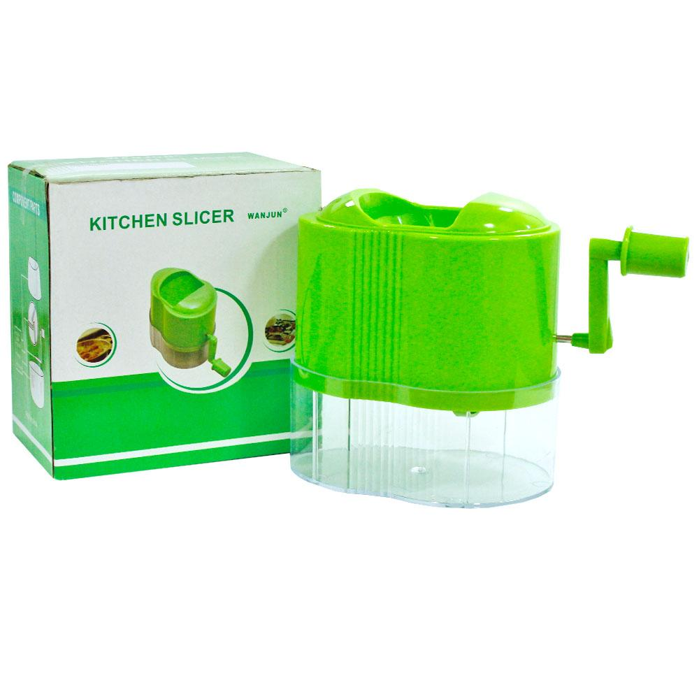 Kitchen Salad Slicer & Nuts Crusher - Green
