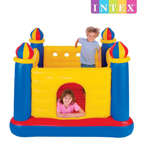Extra Large Jumping Castle Bouncer with Free Air Pump - Yellow, Blue & Red