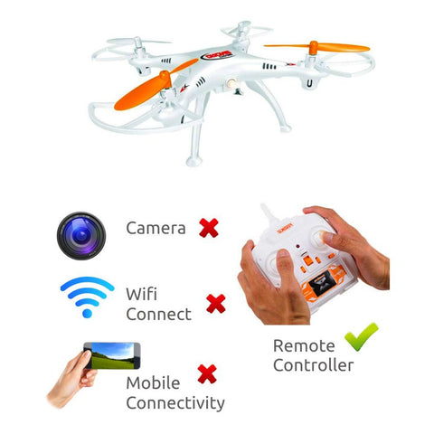 Cyclone Nano Quadcopter RC Drone Mini Helicopter without Camera - White