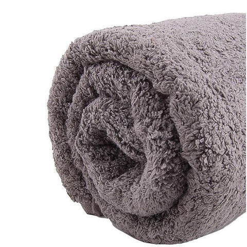 Cotton Grey bath towel small size