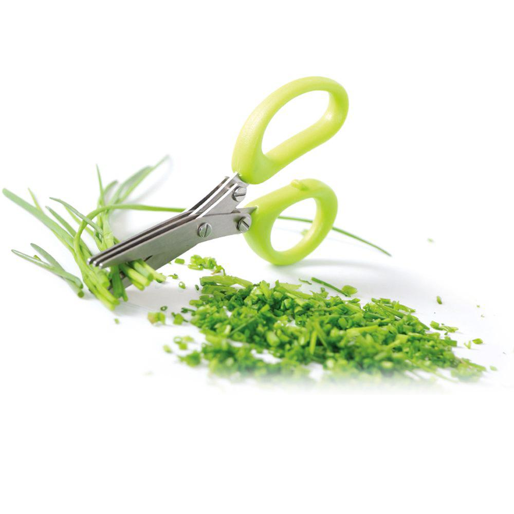Triple Blade Herb Scissors - 3 Layers - Green