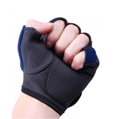 Neoprene Gym Training Gloves - Blue & Black
