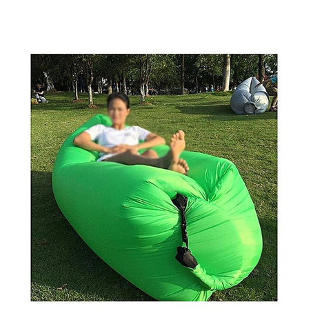 Inflatable Air Sofa Waterproof Air Filled Portable Lay Bag - Green
