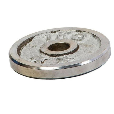 Weight Metal Plate - 1KG - Silver