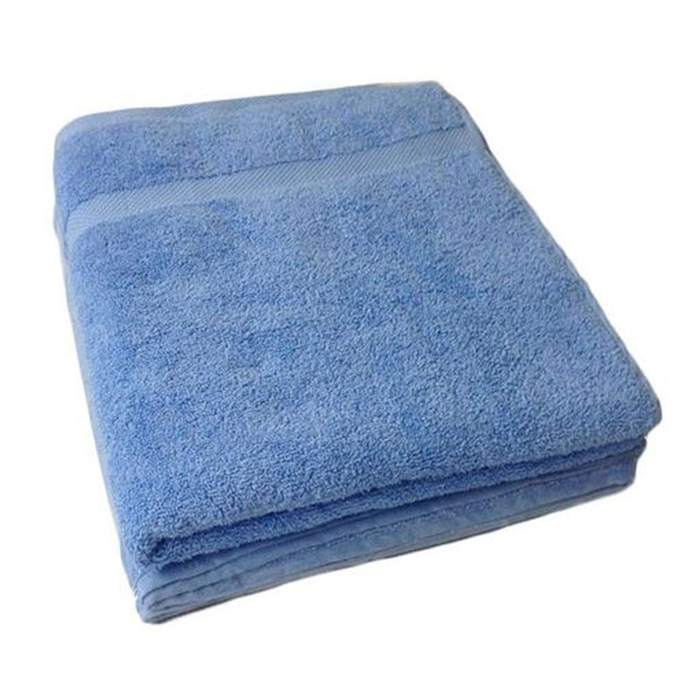 Cotton blue bath towel small size