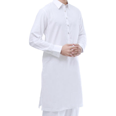 Unstitched Boski Gents Kurta - White - 2.25m