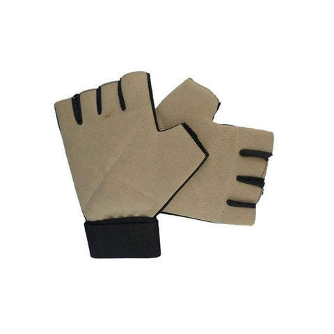 Neoprene Gym Training Gloves - Brown