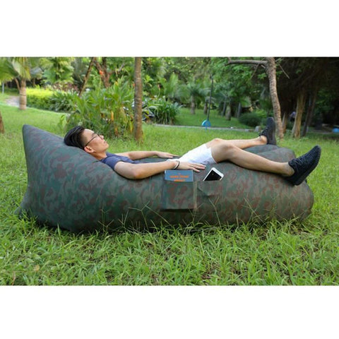 Inflatable Air Sofa Waterproof Air Filled Portable Lay Bag - Camouflage