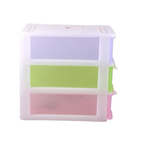 Portable Storage Unit - 3 Drawers - Multicolor