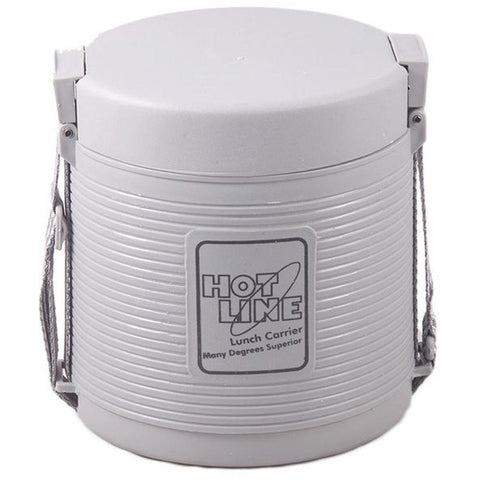 Hot Line Food Carrier 2 Compartments -Silver