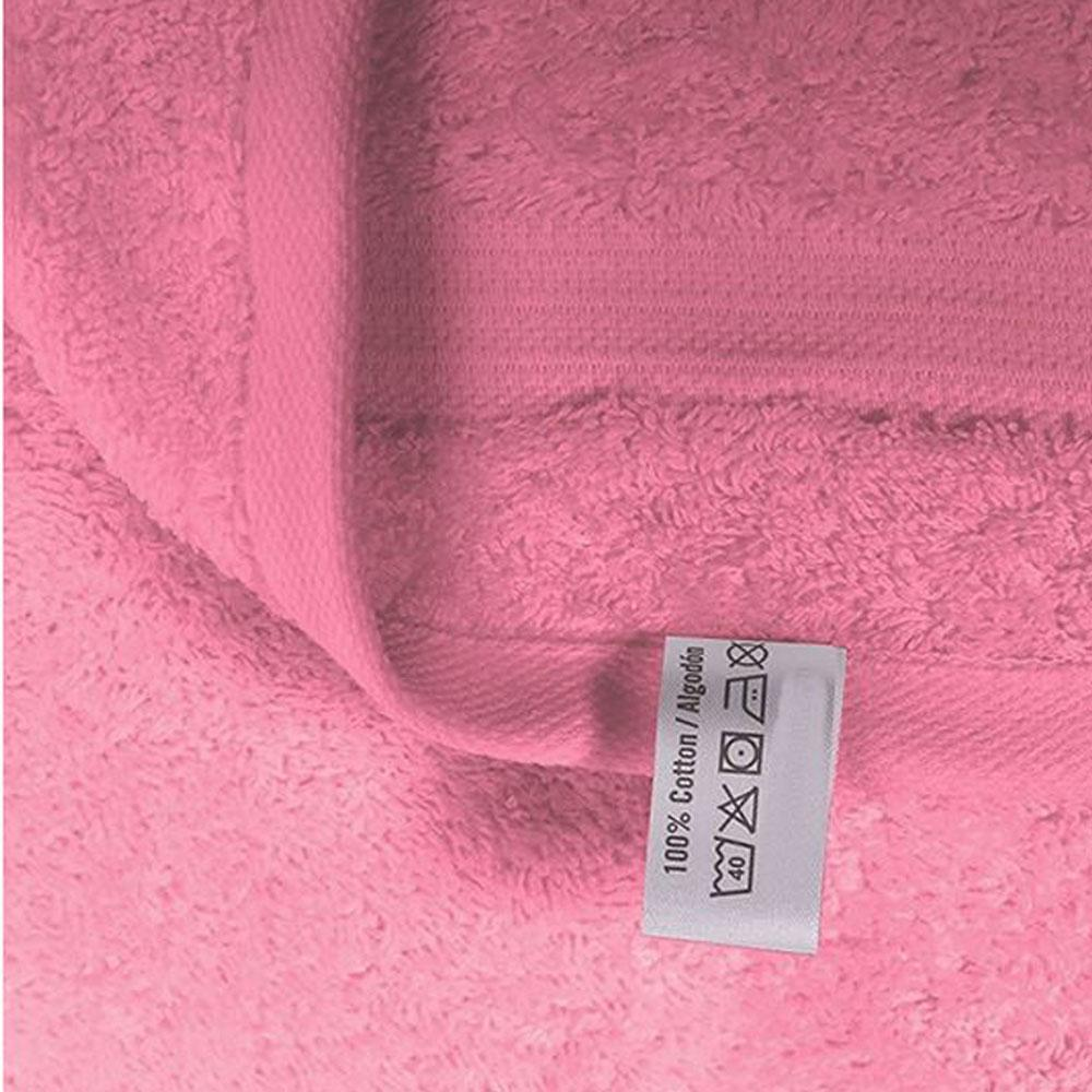 Cotton Bath Towels - Pink