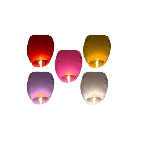 Pack of 5 Sky lantern - Multi Color
