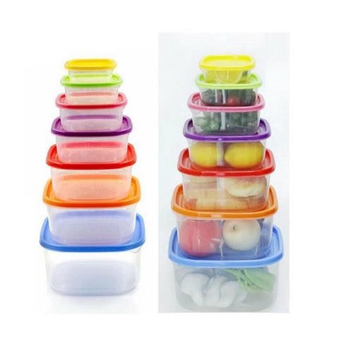 Pack of 7-Plastic Box Food Container