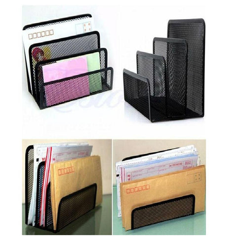 File Holder Letter Sorter Mail Document Tray Desk Office Organizer