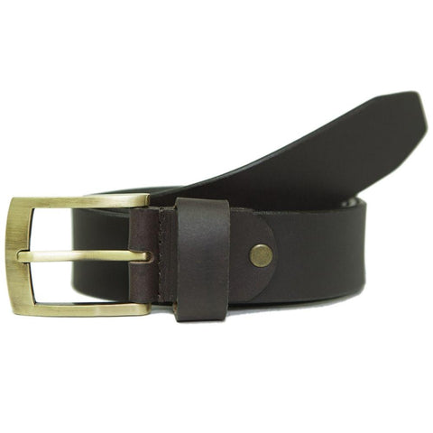 Leather Belt for Men - Brown