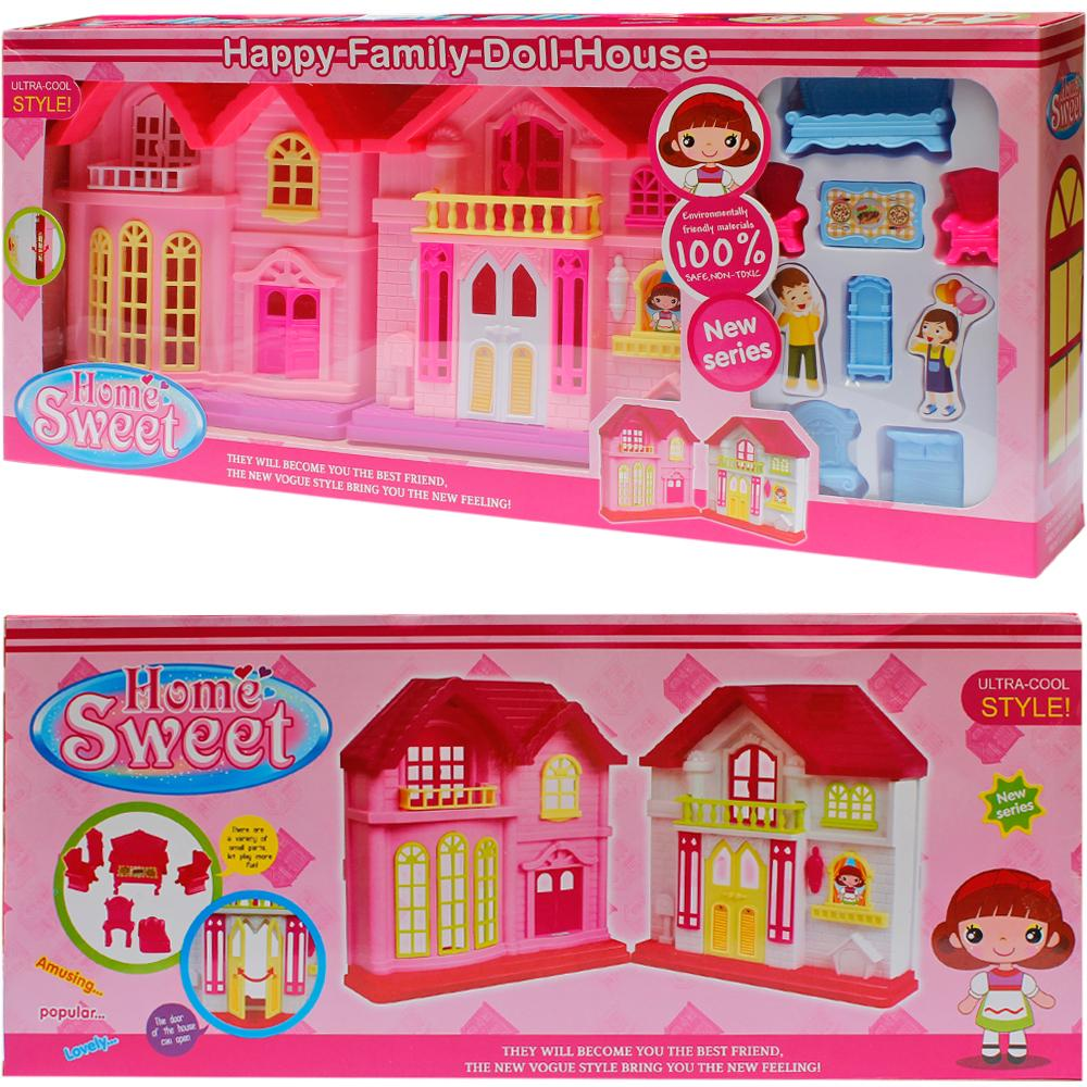 Doll House with Accessories - Play House - Pink