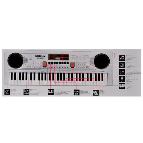 Electronic Semi-Professional 61-Keys Keyboard with Microphone