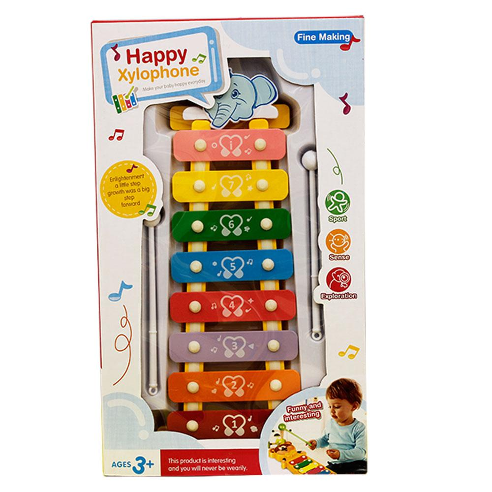 Happy Xylophone Musical Wisdom Keyboard Instrument Educational Toy