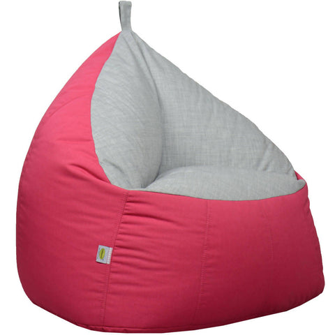 Trio Bean Bag Sofa Chair Fabric For Children And Adults Room Furniture Bean Bag Lounger Chair - Pink