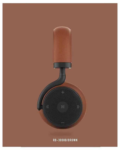 Remax RB-300HB - Bluetooth Headphone with Microphone - Brown
