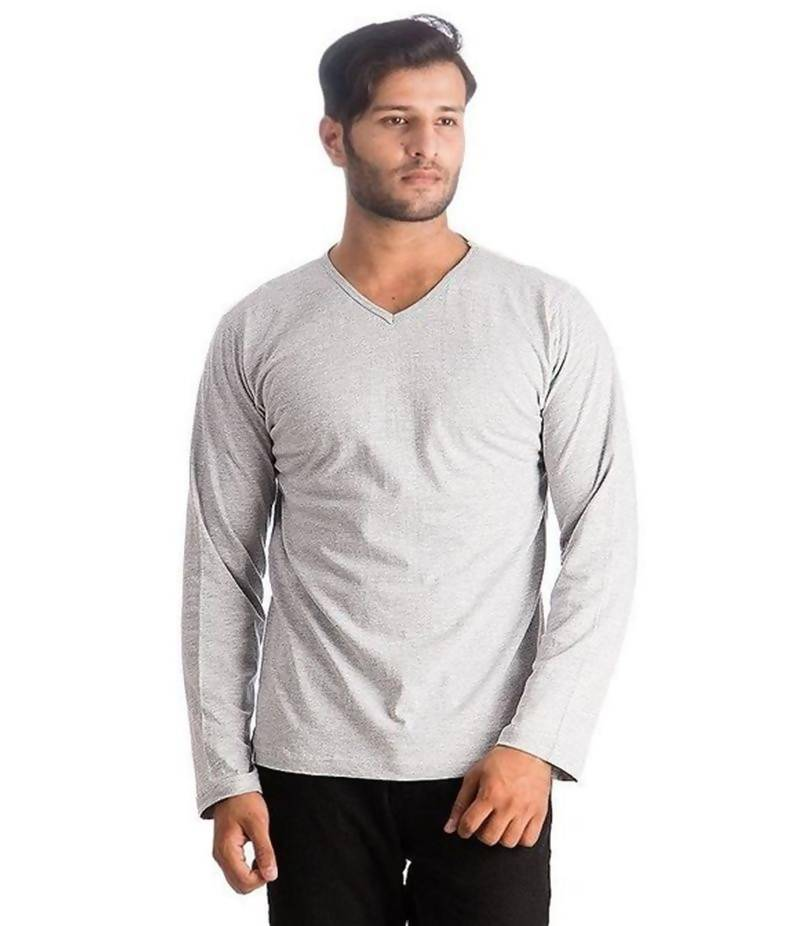 Men Pack Of 3 Black, White & Grey Cotton T-Shirts. FZ-T125