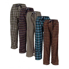 Pack of 5 Cotton Checkered Trousers. FS-1292