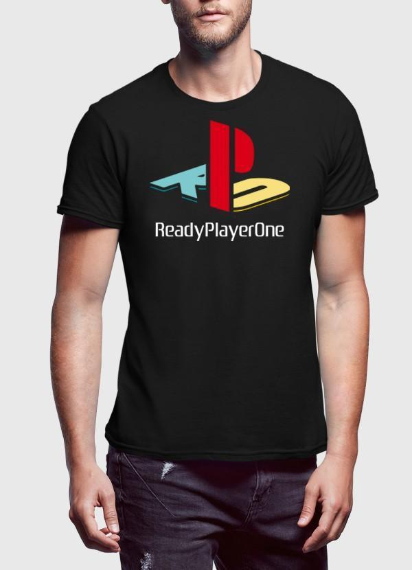 Virgin Teez Ps Ready Player One Black Half Sleeves T-shirt