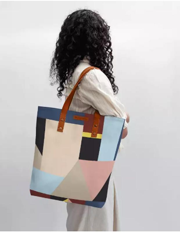 Abstract Geometrical Shapes Classic Tote Bag