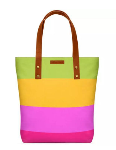 Mindscape Pink Yellow And Green Pattern Classic Tote Bag