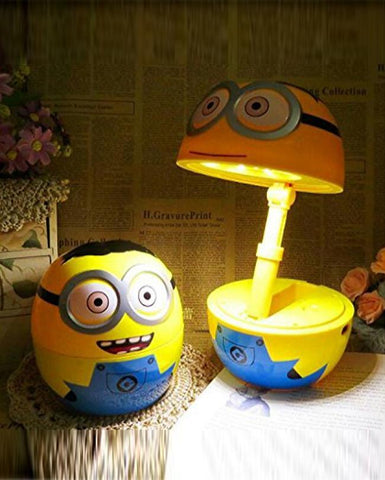 Rechargeable Adjustable Folding Table 16 LED Lamp For Kids - Minion