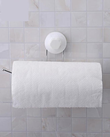 Toilet Paper Holder No-Screw Kitchen Towels Rack Roll Tissue Holder