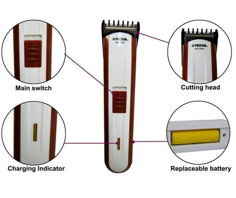NOVA NHC-6008 Wireless/Rechargeable Hair Trimmer/Shaver/Clipper